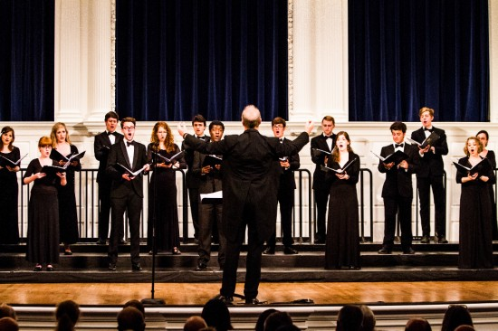 <span>Cambridge University Chamber Choir performing at the Yale International Choral Festival</span>